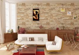 best brick wall tiles for modern home design with unique couches