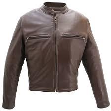 men u0027s cafe racer brown leather motorcycle jacket with gun pockets
