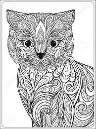 Cat Adult Coloring Book 8