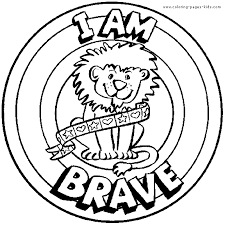 I Am Brave Morale Lesson Color Page Education School Coloring Pages Plate