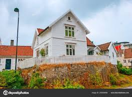 100 Houses In Norway Stavanger Traditional Wooden Houses Stock