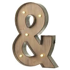 marquee vintage light up metal letter illuminated wall sign bulb led