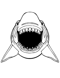 Great White Shark Pagina De Colorat Dinti Scary Free Printable Coloring