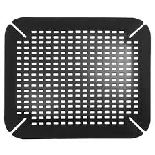 Ceramic Sink Protector Mats by Amazon Com Interdesign Contour Kitchen Sink Protector Mat Black