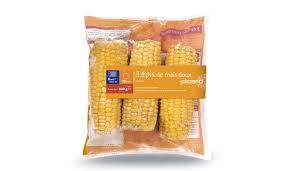 cuisiner des epis de mais 3 épis de maïs doux surgelés les légumes picard