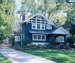 Photo Of Craftsman House Exterior Colors Ideas by Bold Blue Paint Color Ideas For Craftsman Houses This