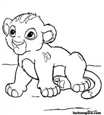 Excellent Ideas Disney Cartoons Coloring Pages Cartoon Characters Young Simba In To Print Colouring