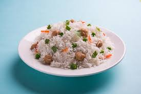 expression cuisine soya chunk pulav or rice stock photo image of expression 91729002