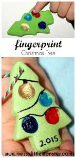 Salt Dough Fingerprint Ornament