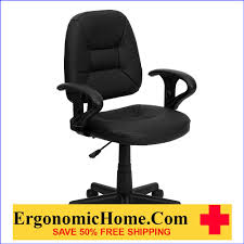 Ergonomic Home Mid-Back Black Leather Swivel Task Chair With Height  Adjustable Arms EH-BT-682-BK-GG 50% Off Read More Below... High Back Black Fabric Executive Ergonomic Office Chair With Adjustable Arms Rh Logic 300 Medium Back Proline Ii Deluxe Air Grid Humanscale Freedom Task Furmax Desk Padded Armrestsexecutive Pu Leather Swivel Lumbar Support Oro Series Multitask With Upholstery For Staff Or Clerk Use 502cg Buy Chairoffice Midback Gray Mulfunction Pillow Top Cushioning And Flash Fniture Blx5hgg Mesh Biofit Elite Ee Height Blue Vinyl Without Esd Knob Workstream By Monoprice Headrest