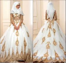 2018 sheer long sleeve arabic islamic muslim ball gowns wedding
