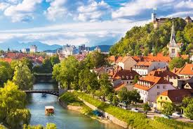 Places To Visit In Europe Cityscape Of The Slovenian Capital Ljubljana