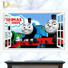 Wall Decoration Aliexpresscom Buy 3d Window Thomas Friends Train Stickers For Kids Room Home Decor