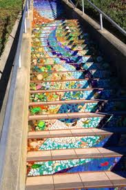 16th Avenue Tiled Steps In San Francisco by Mosaic Steps On 16th Avenue In San Francisco California Through