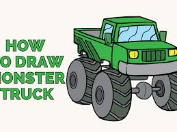 100 How To Draw A Monster Truck Step By Step To A In A Few Easy S Easy Ing Guides