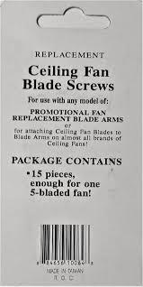 Harbor Breeze Tilghman Ceiling Fan Replacement Blades by Ceiling Fan Blade Screws Amazon Com