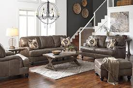 Claremore Sofa And Loveseat by Quarry Kannerdy Sofa View 4 Grey And Leather Our Home