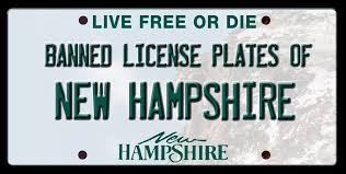 Banned license plates in New Hampshire