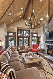 Great Chandelier In Living Room On Modern Home Interior Design ... Beach House Kitchen Decor 10 Rustic Elegance Interior Design Mountain Home Ideas Homesfeed Interiors Homes Abc Best 25 Cabin Interior Design Ideas On Pinterest Log Home Images Photos Architecture Style Lake Tahoe For Inspiration Beautiful Designs Colorado Pictures View Amazing Decorations Decorating With Living
