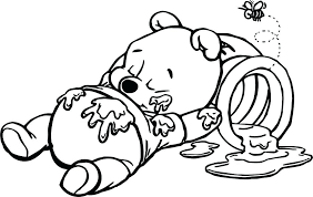 Fascinating Tigger Coloring Pages Kids The Pooh Sleeping On Bucket Page Baby And Book Download Colouring