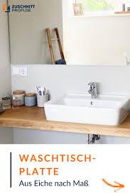 waschtischplatte nach maß aus massivem eichenholz