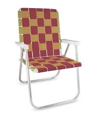 100 Burgundy Rocking Chair Lawn USA Gold Folding Aluminum Webbing Classic