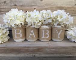 Baby Shower Decor Nursery Rustic Burlap Gender