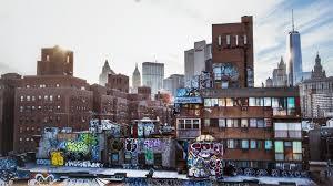 New York City Urban Layers Graffiti Wallpaper Download Free