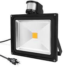warmoon led flood light bulbs motion sensor auto on waterproof