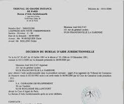 bureau d aide juridictionnelle rapport de maître marc baroni décision prononcée le 03 novembre