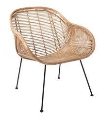 siege en rotin fauteuil chaise rotin scandinave naturel hk living