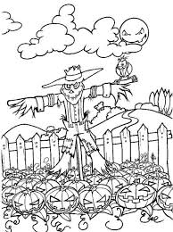 Scary Halloween Pumpkin Coloring Pages by Kid Scary Halloween Pumpkin Coloring Pages Hallowen Coloring