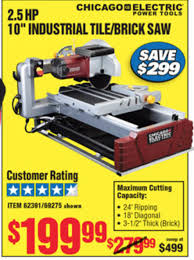 Harbor Freight Electric Tile Cutter by Chicago Tile Saw Tiling Contractor Talk