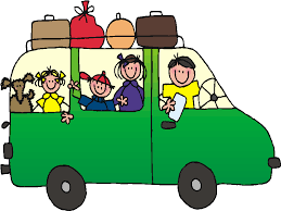 A Family In Car Traveling Clipart