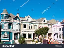 100 Victorian Property Classic Houses San Francisco California Stock Photo Edit