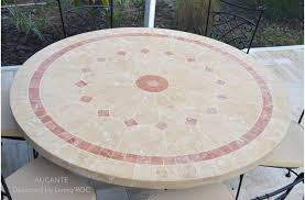 table ronde mosaique fer forge catégorie table de jardin du guide et comparateur d achat
