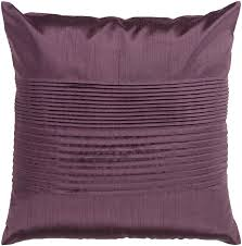 Poly Silk Down Throw Pillow Plum