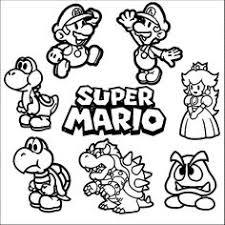 Super Mario Coloring Page 01