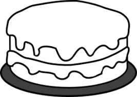 Chocolate Cake clipart black and white 5