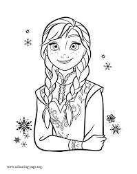 Frozen Princess Anna Coloring Page