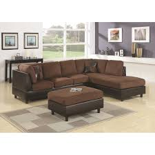 furniture brown sectional couch design with rugs and wooden floor