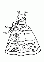 Cartoons Dress Summer Polka Dot Coloring Page For Girls Printable Up Colouring Pages