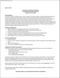 Auto Mechanic Sample Resume