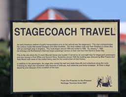 Wisconsin Historical Markers Stagecoach Travel