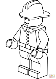 Fireman Coloring Page Lego Firefighter Free Printable Pages To Print