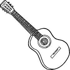 Girl Play Guitar Coloring Page Pages With