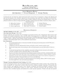 Sales And Marketing Sample Resume Manager Resumes Examples