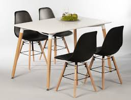 tischgruppe esstisch ilka weiß 4 stühle ronald schwarz