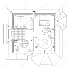 100 Attic Apartment Floor Plans The Attic Floor In The Cottage Architectural Plan Of A House