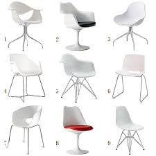 Leather Dining Chairs Ikea by White Molded Chairs Making It Lovely